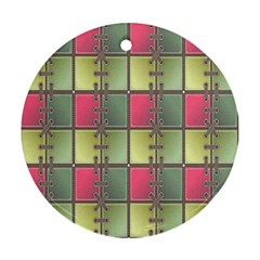 Seamless Pattern Seamless Design Round Ornament (Two Sides)