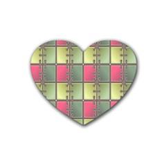 Seamless Pattern Seamless Design Heart Coaster (4 pack)