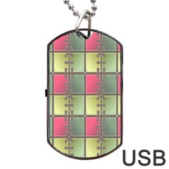 Seamless Pattern Seamless Design Dog Tag USB Flash (One Side)