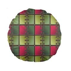 Seamless Pattern Seamless Design Standard 15  Premium Round Cushions