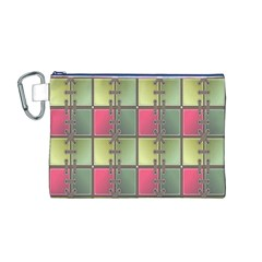 Seamless Pattern Seamless Design Canvas Cosmetic Bag (M)