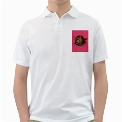Snail Pink Background Golf Shirts