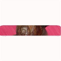 Snail Pink Background Small Bar Mats