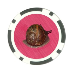 Snail Pink Background Poker Chip Card Guards