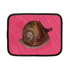 Snail Pink Background Netbook Case (Small)