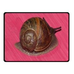 Snail Pink Background Fleece Blanket (Small)