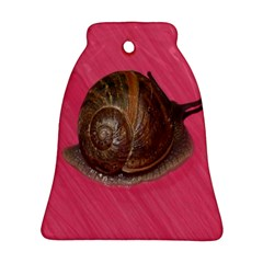 Snail Pink Background Ornament (Bell)