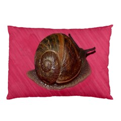 Snail Pink Background Pillow Case (Two Sides)