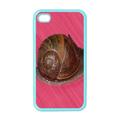 Snail Pink Background Apple iPhone 4 Case (Color)