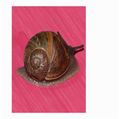 Snail Pink Background Small Garden Flag (Two Sides)