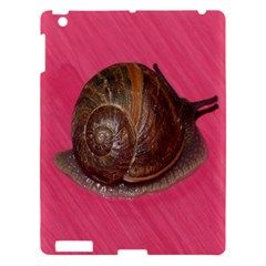 Snail Pink Background Apple iPad 3/4 Hardshell Case