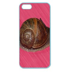 Snail Pink Background Apple Seamless iPhone 5 Case (Color)