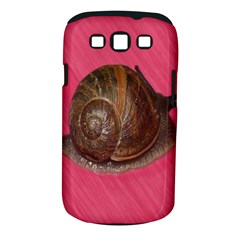 Snail Pink Background Samsung Galaxy S III Classic Hardshell Case (PC+Silicone)