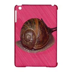 Snail Pink Background Apple iPad Mini Hardshell Case (Compatible with Smart Cover)