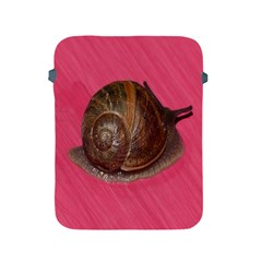 Snail Pink Background Apple iPad 2/3/4 Protective Soft Cases