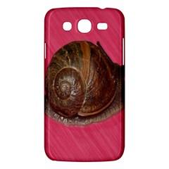 Snail Pink Background Samsung Galaxy Mega 5.8 I9152 Hardshell Case