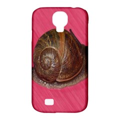 Snail Pink Background Samsung Galaxy S4 Classic Hardshell Case (PC+Silicone)