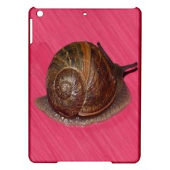 Snail Pink Background iPad Air Hardshell Cases