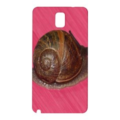 Snail Pink Background Samsung Galaxy Note 3 N9005 Hardshell Back Case