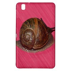 Snail Pink Background Samsung Galaxy Tab Pro 8.4 Hardshell Case