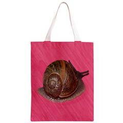 Snail Pink Background Classic Light Tote Bag