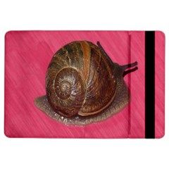 Snail Pink Background iPad Air 2 Flip