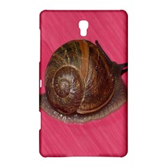 Snail Pink Background Samsung Galaxy Tab S (8.4 ) Hardshell Case