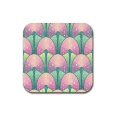 Seamless Pattern Seamless Design Rubber Square Coaster (4 pack)