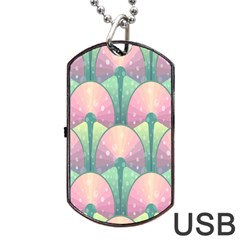 Seamless Pattern Seamless Design Dog Tag USB Flash (Two Sides)