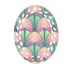Seamless Pattern Seamless Design Oval Filigree Ornament (2-Side)