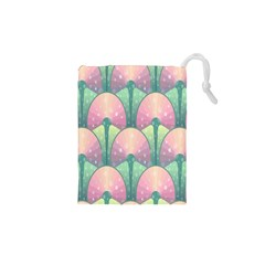 Seamless Pattern Seamless Design Drawstring Pouches (XS)