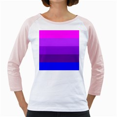 Transgender Flag Girly Raglans