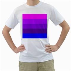 Transgender Flag Men s T-Shirt (White) (Two Sided)