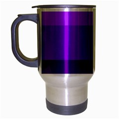 Transgender Flag Travel Mug (Silver Gray)