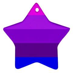 Transgender Flag Star Ornament (Two Sides)