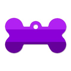 Transgender Flag Dog Tag Bone (Two Sides)