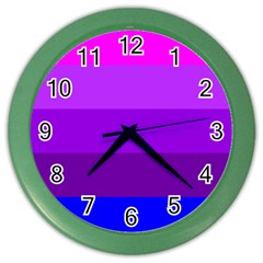 Transgender Flag Color Wall Clocks