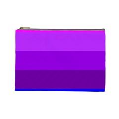 Transgender Flag Cosmetic Bag (Large)