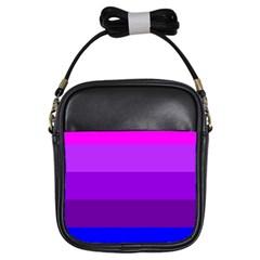 Transgender Flag Girls Sling Bags