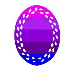 Transgender Flag Oval Filigree Ornament (2-Side)