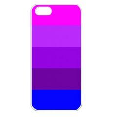 Transgender Flag Apple iPhone 5 Seamless Case (White)