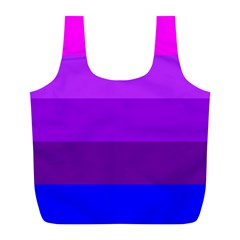 Transgender Flag Full Print Recycle Bags (L)