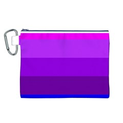 Transgender Flag Canvas Cosmetic Bag (L)
