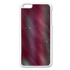 Stars Nebula Universe Artistic Apple iPhone 6 Plus/6S Plus Enamel White Case