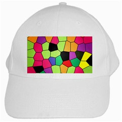 Stained Glass Abstract Background White Cap