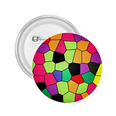 Stained Glass Abstract Background 2.25  Buttons