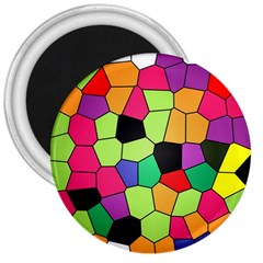 Stained Glass Abstract Background 3  Magnets
