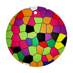 Stained Glass Abstract Background Ornament (Round)