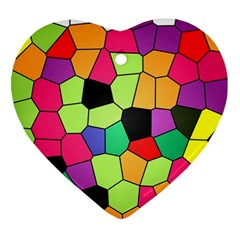 Stained Glass Abstract Background Ornament (Heart)