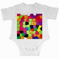 Stained Glass Abstract Background Infant Creepers